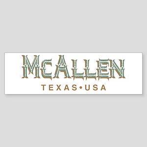 Retro McAllen Bumper Sticker