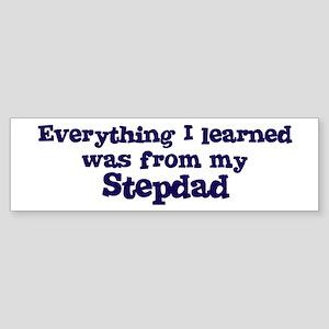 Stepdad : Everything Bumper Sticker