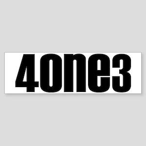 4one3black Sticker (Bumper)