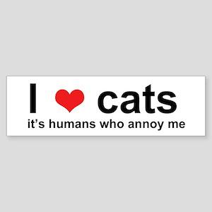 ILoveCats Bumper Sticker