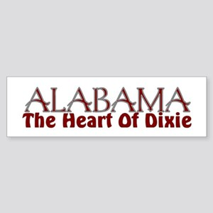Alabama the heart of Dixie Bumper Sticker