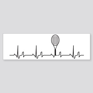 Tennis Heartbeat Sticker (Bumper)