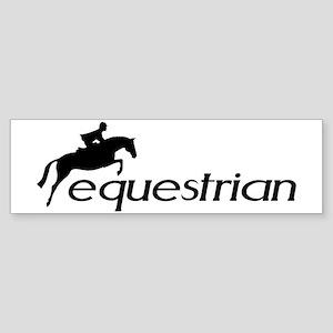 hunter/jumper equestrian Bumper Sticker
