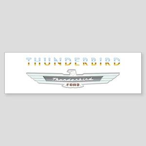 Ford Thunderbird Emblem Orange Chrome Sticker (Bum