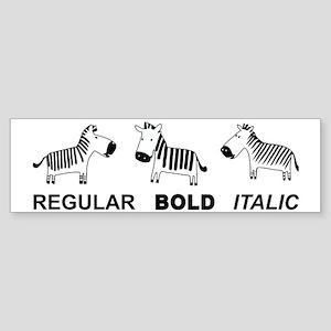 Funny font Sticker (Bumper)