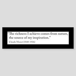 Claude Monet Nature quote Sticker (Bumper)