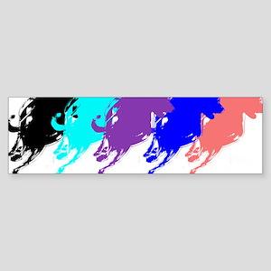 Running Greyhounds Sticker (Bumper)