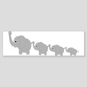 Elephants Design Sticker (Bumper)