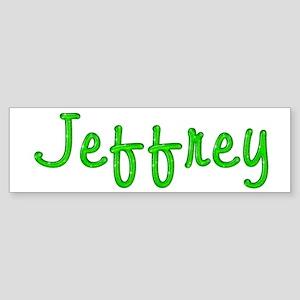 Jeffrey Glitter Gel Bumper Sticker