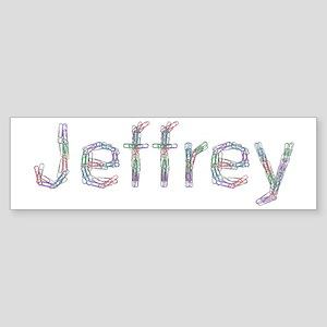 Jeffrey Paper Clips Bumper Sticker
