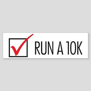 Run a 10k Sticker (Bumper)