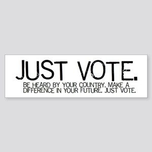 The JUST VOTE Bumper Sticker