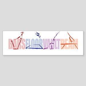 Gymnastic Events Bumper Sticker