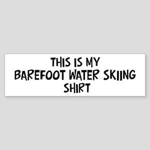 My Barefoot Water Skiing Bumper Sticker