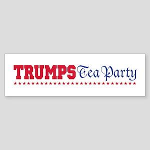 Donald Trump Tea Party Sticker (Bumper)