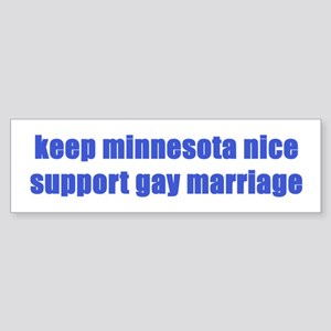 Keep MN Nice - Sticker (Bumper)