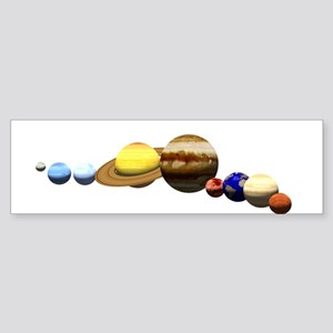 Solar System Bumper Sticker