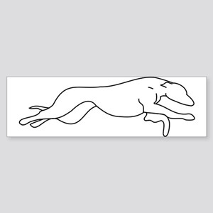 Greyhound Outline multi color Sticker (Bumper)