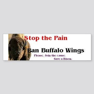Buffalo Wings Bumper Sticker