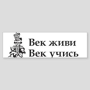 Live and Learn Bumper Sticker