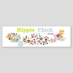 Hippie Chick at Heart Sticker (Bumper)