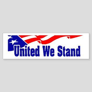 United We Stand Flag Bumper Sticker