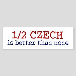 Half Czech Bumper Sticker