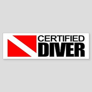 Certified Diver Bumper Sticker