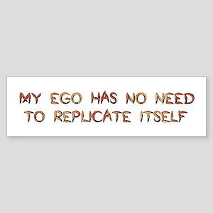 No Breeder Ego Bumper Sticker