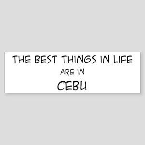 Best Things in Life: Cebu Bumper Sticker