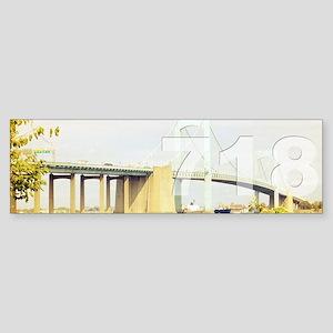 718 Sticker (Bumper)
