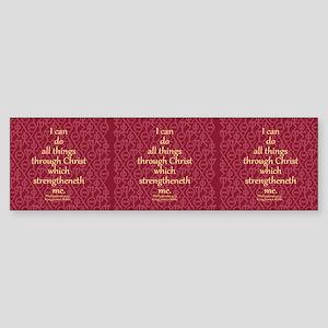 Philippians 4:13 ixoye rose Sticker (Bumper)