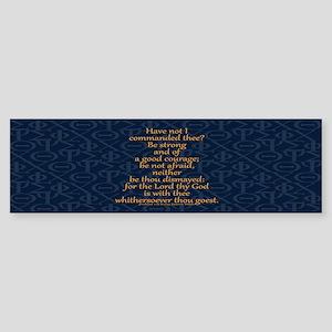 Joshua 1:9 Tapestry Sticker (Bumper)