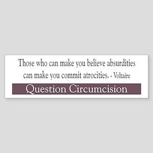 Voltaire Quote Bumper Sticker