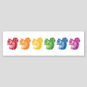 Rainbow Squirrels Sticker (Bumper)