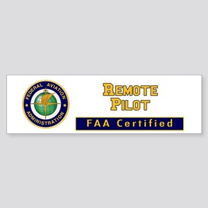 Faa Certified Remote Pilot Bumper Sticker