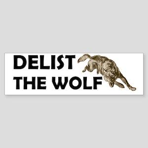 DELIST THE WOLF Bumper Sticker