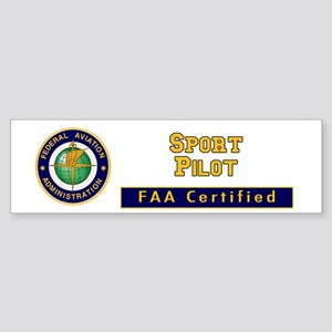 FAA Certified Sport Pilot Sticker (Bumper)