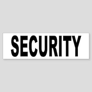 Security Sticker (Bumper)