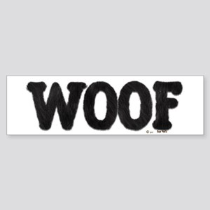 WOOF - Furry Fun - Gay Bear Pride - Bumper Sticker