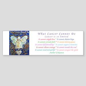 Blue & Gold Cancer Angel Sticker (Bumper)