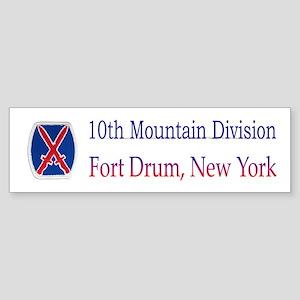 10TH MOUNTIAN DIV Bumper Sticker