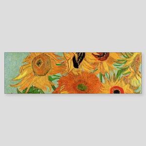 Van Gogh Sunflowers Wraparound Sticker (Bumper)
