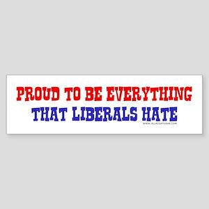 Liberals Hate Bumper Sticker