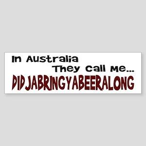 Australian Beer Joke Bumper Sticker
