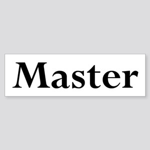Master Sticker (Bumper)