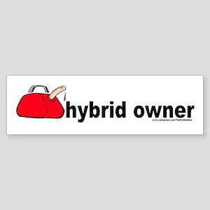 """Hybrid Owner"" gas can Bumper Sticker"