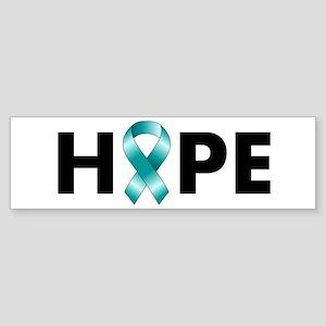 Teal Ribbon Hope Sticker (Bumper)