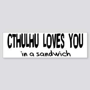 Cthulhu Loves You Bumper Sticker