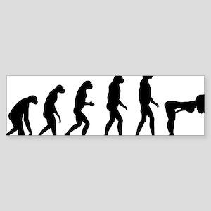 evolution girl Sticker (Bumper)